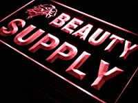 ADVPRO Beauty Supply Shop Enseigne Lumineuse LED看板 ネオンプレート サイン 標識 Red 300 x 210mm st4s32-i057-r