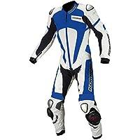 コミネ(KOMINE) S-51 チタニウムレザースーツ WHITE/BLUE(MB) Titanium Leather Suit 02-051
