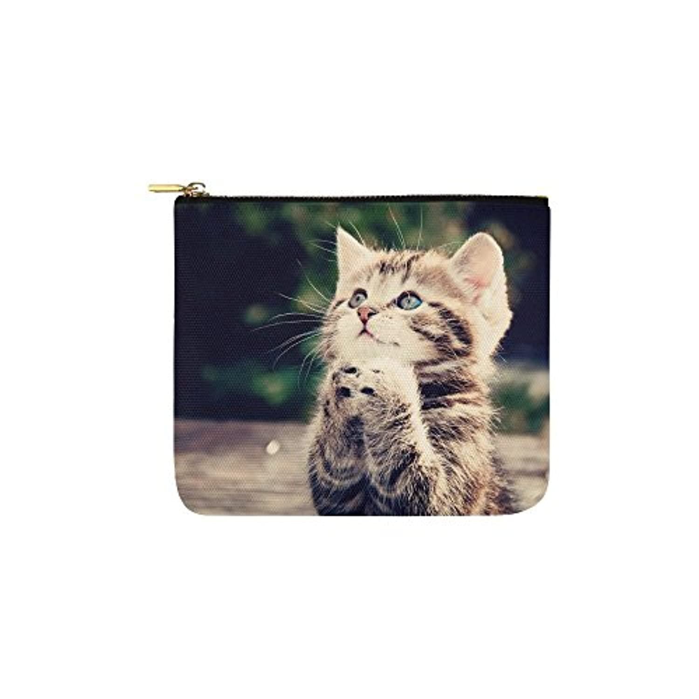 猫柄キュートレディーズキャンバスポーチ コインケース コインポーチ ミニ財布 小物入れ
