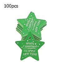 Followmyheart クリスマスベーキングタグ五ta星クリスマスツリー紙ぶら下げギフトタグギフトラッピング包装ベーキングタグ100ピース
