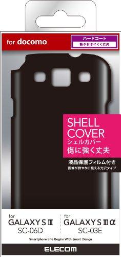 ELECOM docomo Galaxy S III SC-06D用 シェルカバー ブラック PD-SCS3PVBK