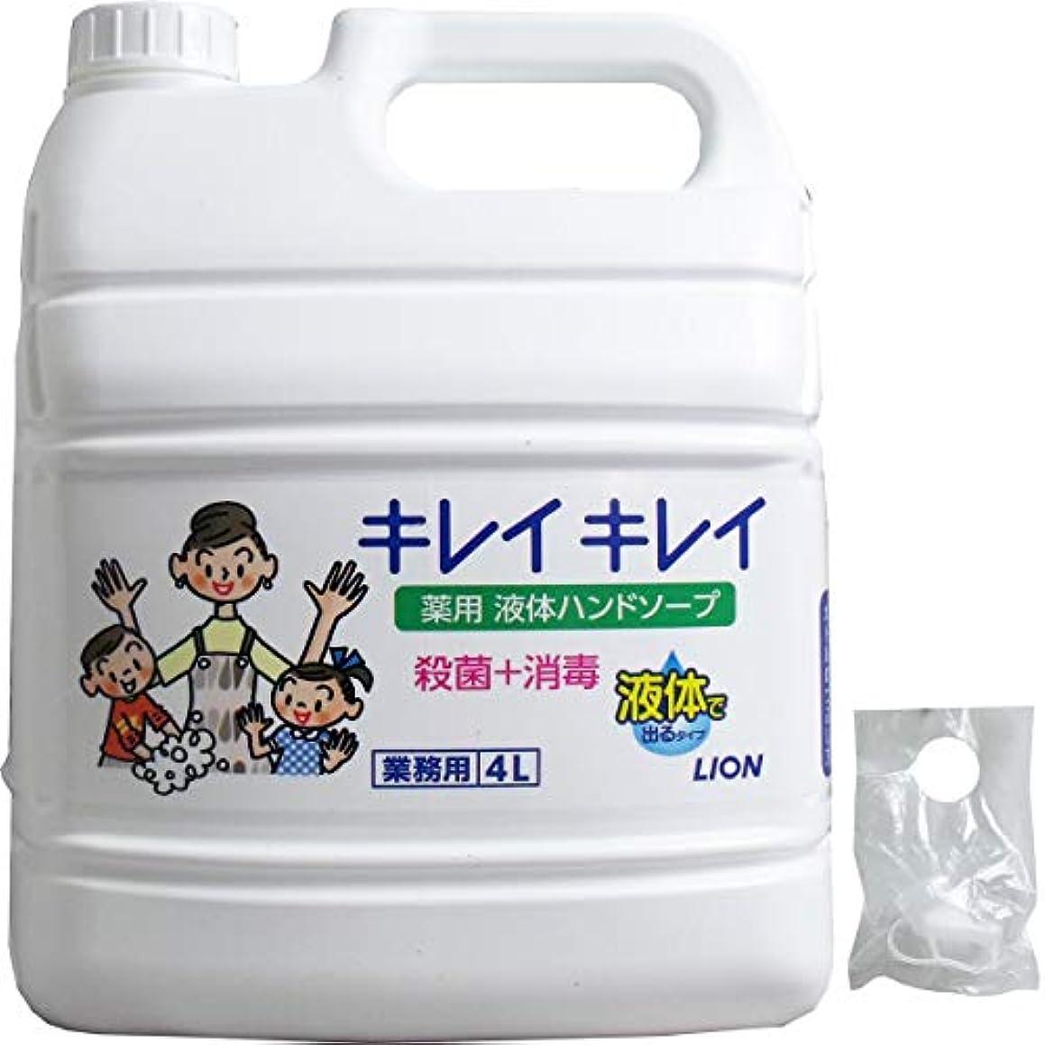 収束全滅させる夕食を食べる業務用 キレイキレイ 薬用ハンドソープ 4L(単品1個)