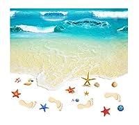 WCH ポリ塩化ビニール3d Bue Beach屋内ステッカーの台所浴室の装飾のステッカー 壁紙