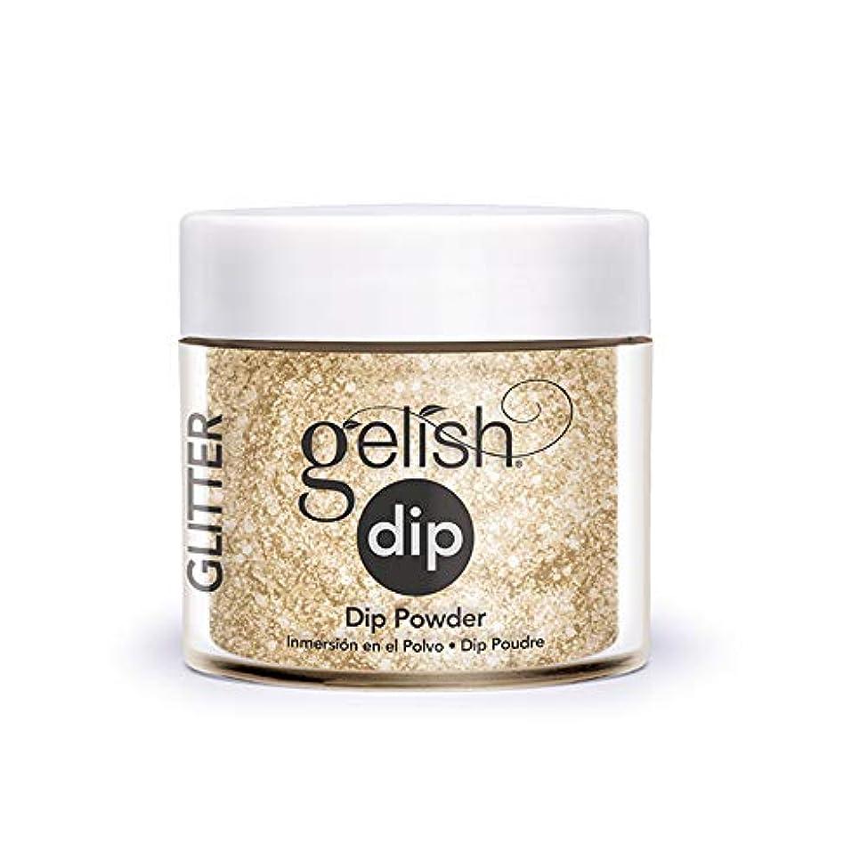 ミニチュア形金銭的なHarmony Gelish - Acrylic Dip Powder - All that Glitters is Gold - 23g / 0.8oz