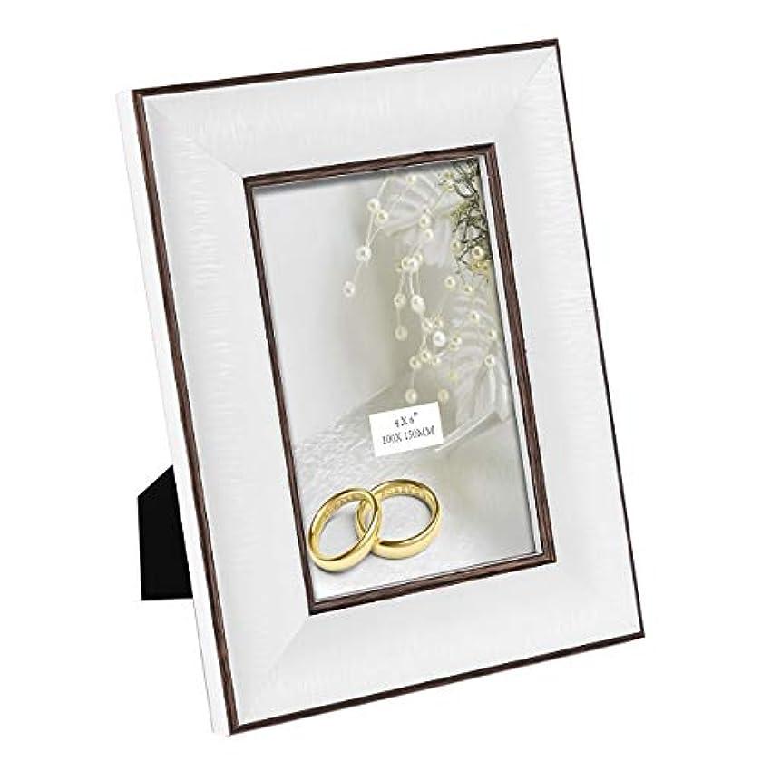 解任国旗サーマルTeresa's Collections フォトフレーム KG判 写真立て アクリル 、 額縁壁掛け 写真立て デスクトップ/結婚式/家/壁の装飾用の2色の壁掛け式写真ポスターラック(4×6 インチ )