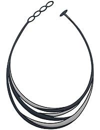 Batucada (バチュカーダ) ネックレス 「Swell(スウェル)」ブラック&シルバー 母の日