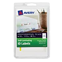 Avery Self-Laminating ID Labels, Handwrite, 0.66 x 3.375 Inches, Assorted Colors, Pack of 24 (00748) by Avery [並行輸入品]