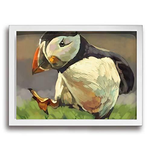 Peek-A-Booy チック チキン 鶏 壁掛け絵画 装飾画 ポスター アートフレーム グレーアート 額縁付き インテリア 印刷 アートプリント パネル ウォールアート 現代 壁飾り おしゃれ 30*40cm (木枠付きの完成品)