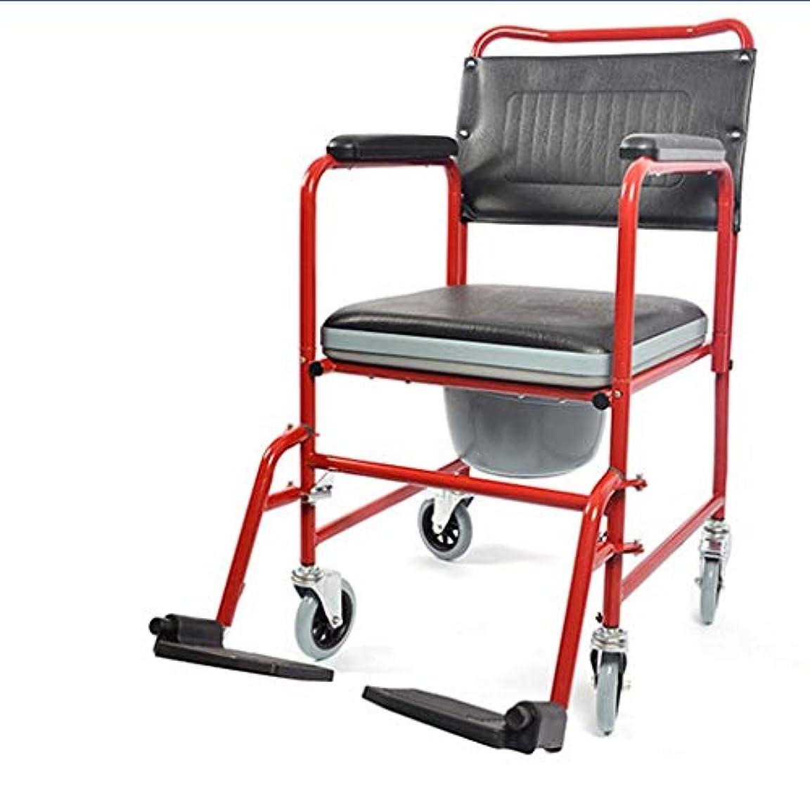 ピジン前部中断バスルームのシャワーチェア、レインスツール、高齢者妊婦ポータブル多機能車椅子高齢者ポータブルカート
