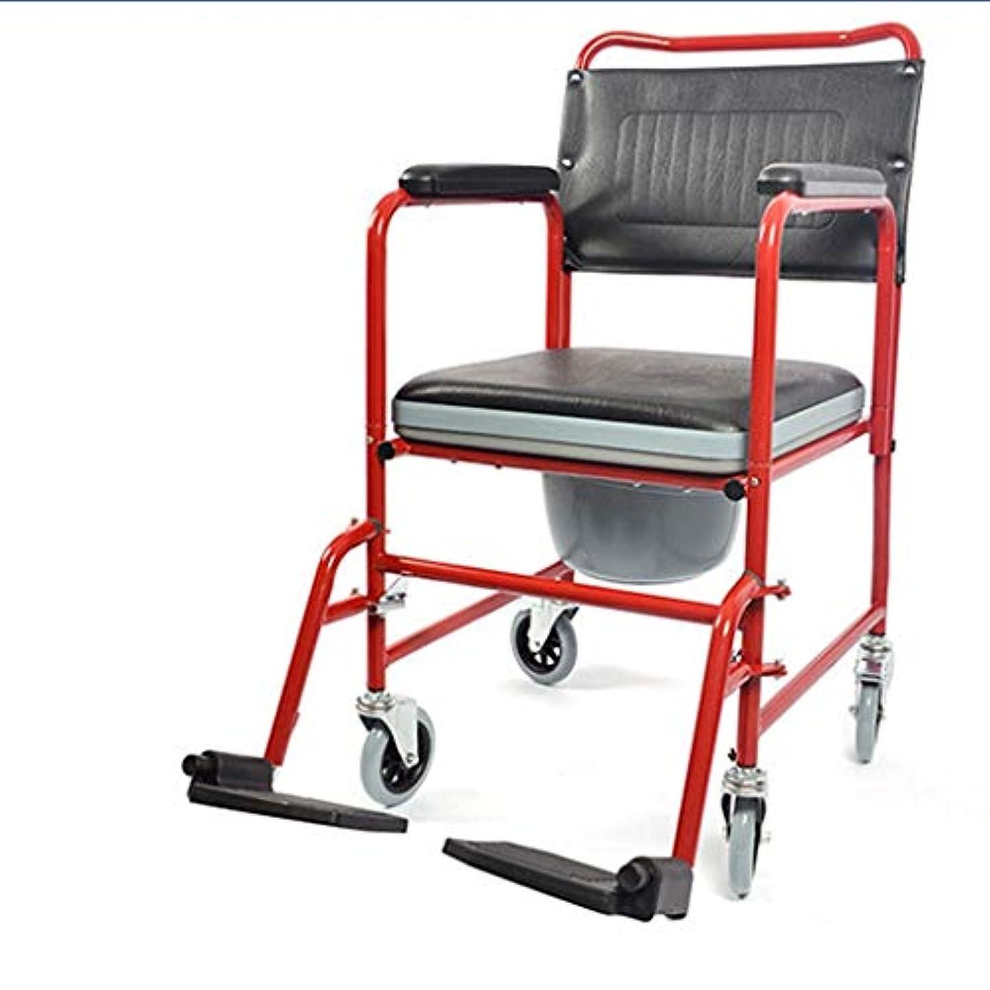 従来のインチ動作バスルームのシャワーチェア、レインスツール、高齢者妊婦ポータブル多機能車椅子高齢者ポータブルカート