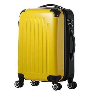 スーツケース / Wファスナー / 8輪キャスター / 拡張 / TSAロック / ファスナー / ポリカーボネート / 03302-03402 (SM-03302, イエロー/combi)
