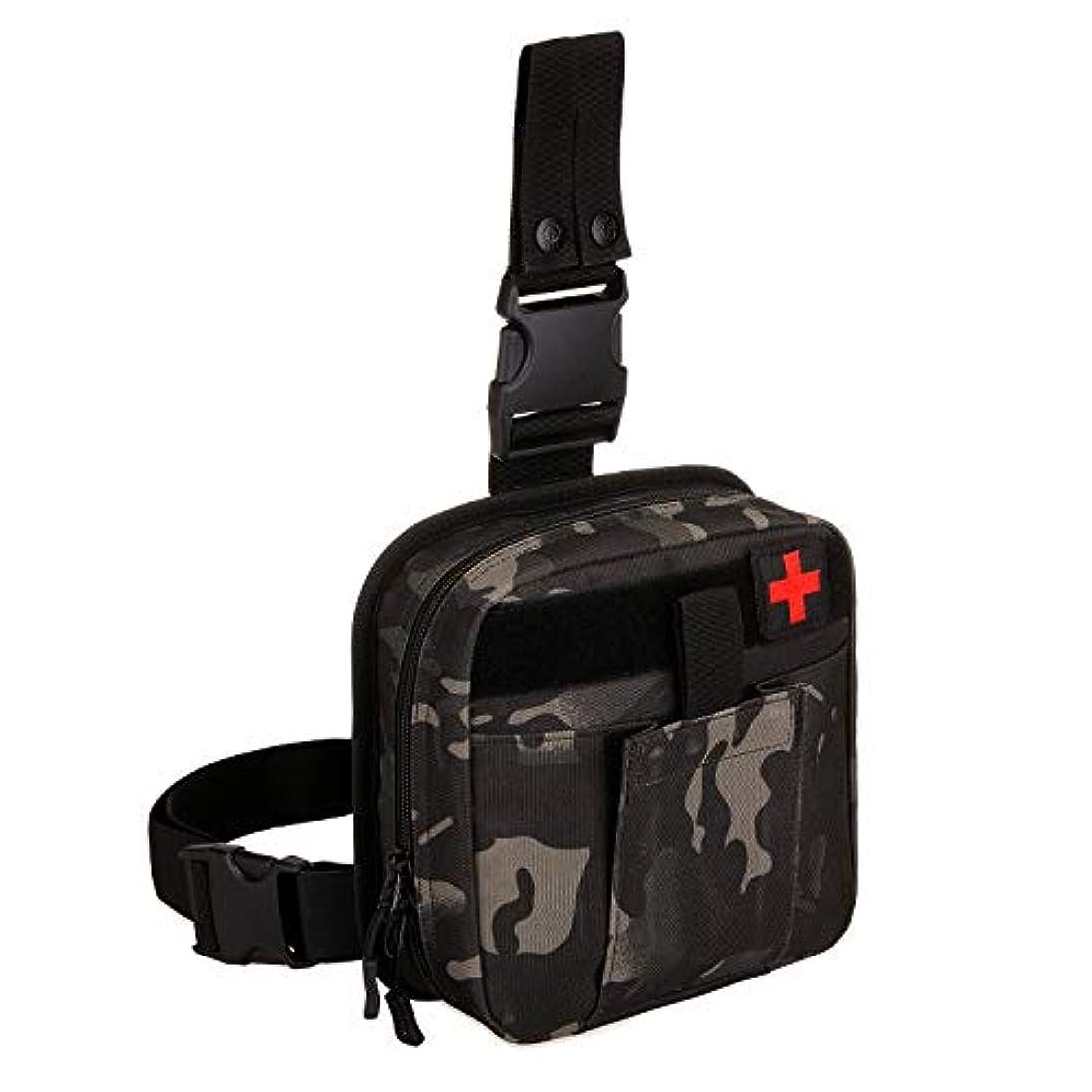カリング武器曲SINAIRSOFT タクティカル ドロップレッグIFAKメディカルポーチバッグ、個別応急処置キットツール ファニーニーニーニーパック 調節可能 取り外し可能 職場 アウトドア キャンプ ハイキング サバイバル