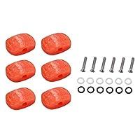 6パッククラシックギターチューニングペグチューナーマシンヘッドボタンノブハンドル先端キャップ楽器パーツ - #1