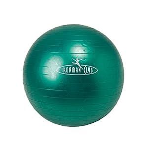 IRONMAN CLUB(鉄人倶楽部) ヨガ ボール 55cm グリーン IMC-58 ポンプ付 バランス トレーニング