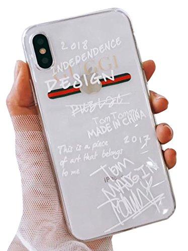 (タコストア) taco store iPhone ケース グッチ 風 らくがき デザイン が ネオ おしゃれ X クリ...