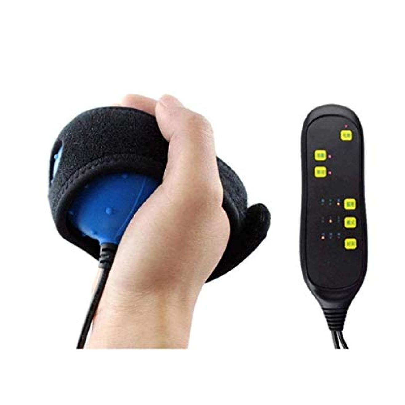 消すスリムドライ指マッサージ器、電動指リハビリテーショントレーナー、脳卒中片麻痺指回復熱マッサージャー治療ボール、指屈曲矯正ツール (Color : 02)