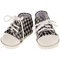 [No brand goods] 18 inches American Girl doll for a pair sneakers shoes lace-up plaid gift