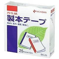 == まとめ == / ニチバン/製本テープ - 再生紙 - / 25mm×10m / 白/BK-255 / 1巻 / - ×10セット -