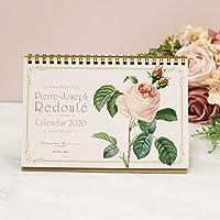 カレンダー ルドゥーテ ローズ 卓上 薔薇 2020年