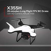 Didasong X35SH 2.4G ドローン FPV 空撮カメラ付き 20分間長時間飛行 高度維持 黒、白 X35SH 0.3MP ホワイト