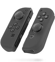 Fosmon Nintendo Switch Joy-Con シリコン プロテクタケース 任天堂スイッチ ソフトケース (L)   (R)【高品質 | 超薄 | 超耐磨 | 着脱簡単】ニンテンドー スイッチ保護カバー (グレー)