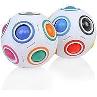 開始2pcs応力RelieverマジックレインボーボールFunキューブFidgetパズル教育おもちゃを子供/大人