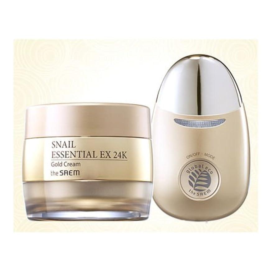 ソロ平方選出する【the SAEM】 ザセム スネイル エッセンシャル EX 24K ゴールド クリーム セット Snail Essential EX 24K Gold Cream Set