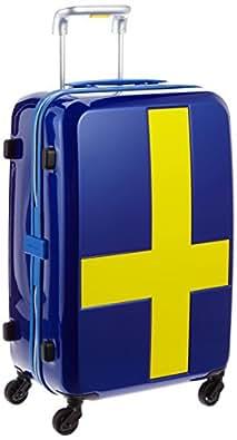[イノベーター] innovator スーツケース 55cm 50L 3kg TSAロック付 2年保証 サイレントキャスター ジッパー開閉 INV55T SURF BLUE/YELLOW (ブルーxイエロー)