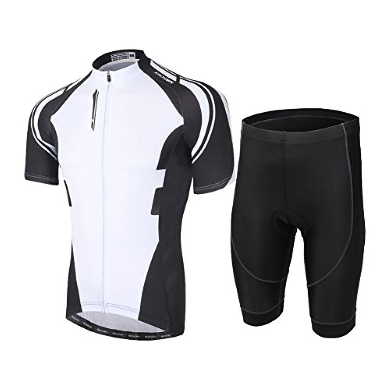 学ぶ人種干ばつAIRFRIC(エアフリク)夏用 サイクリングジャージ 半袖 上下セットx17ss01