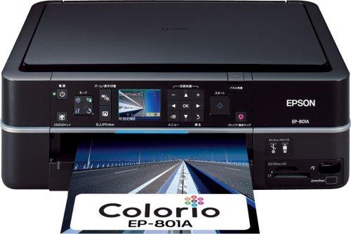 EPSON MultiPhoto Colorio 自動ノズルチェック機構搭載 フォト複合機 6色染料インク EP-801A