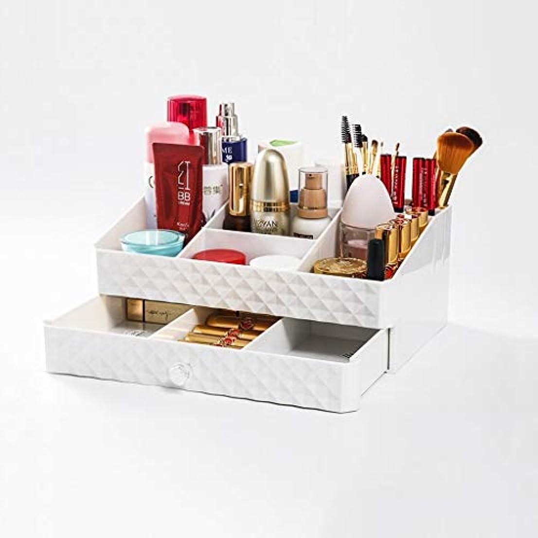 スプーンぼかす盆地化粧品収納ボックスプラスチック引き出しタイプデスクトップスキンケア製品仕上げボックス口紅香水ジュエリー収納ボックス