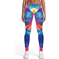 KYKU 3D Graphic Leggings for Women Gym Workout Sports Fitness Running Yoga Pants