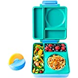 OmieBox - Leak-Proof 3-Compartment Bento Lunch Box for Kids - Includes Insulated Food Thermos - Two Temperature Zones for Hot & Cold Food Standard Single Meadow