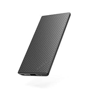 Anker PowerCore Slim 5000 (5000mAh スリム型 モバイルバッテリー) 【PSE認証済 / PowerIQ搭載 / レッドドット・デザイン賞受賞】 iPhone&Android対応 (ブラック)