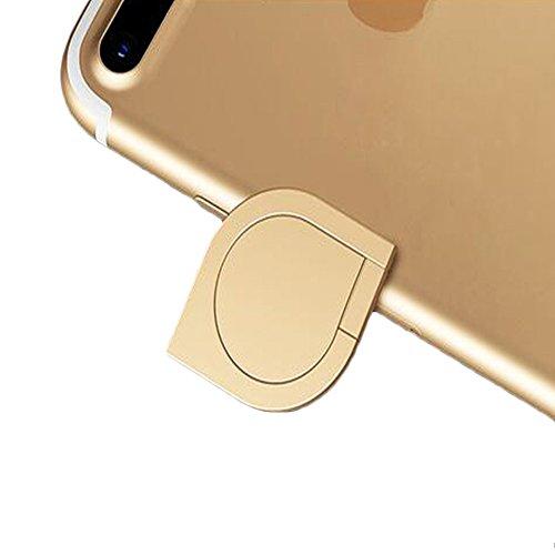 DBMART スマホリング ホルダー バンカーリング 360度回転 落下防止 ホールドリング 車載ホルダー対応 iPhone/iPad/iPod/Galaxy/Xperia/android多機種対応 スマートフォン・タブレット金属を指1本で保持・落下防止・スタンド機能 アルミニウム合金 スマホリング スマホ対応 シズク ハンドスピナー 指先ジャイロ ジャイロ 耐荷重約3-5kg 水洗できる (ゴールデン)