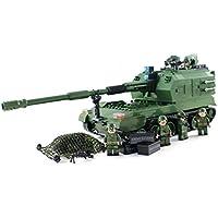 陸軍砲兵自走榴弾砲タンク - 軍事ビルディングブロック玩具