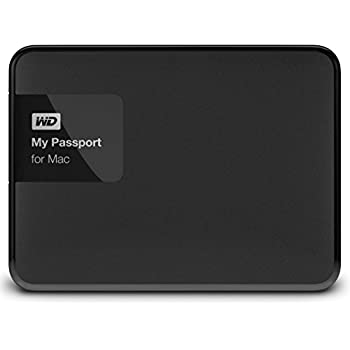 WD HDD ポータブルハードディスク 2TB My Passport for Mac WDBCGL0020BSL-PESN USB3.0/タイムマシン対応/暗号化パスワード保護/3年保証