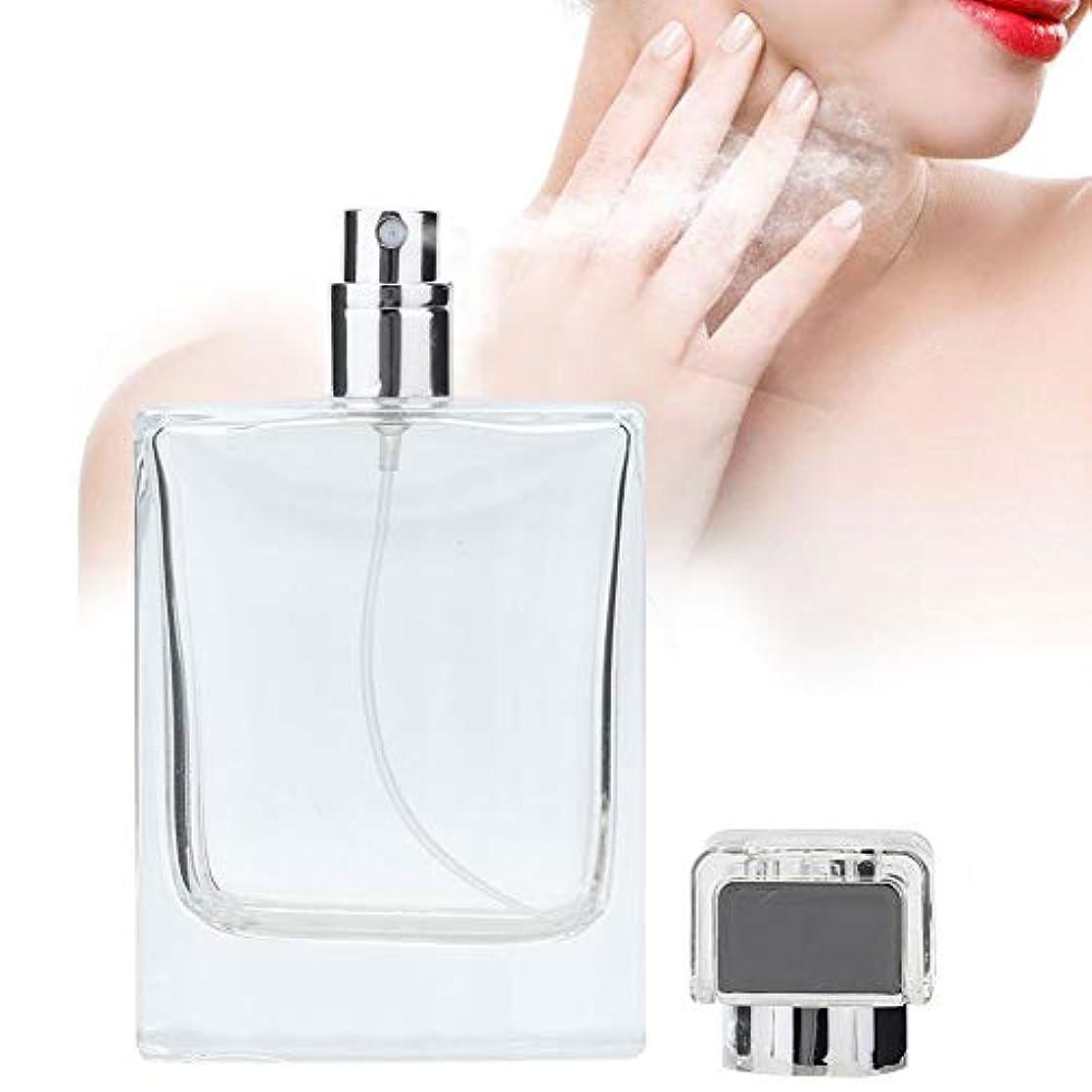 に賛成記憶火山学100 ML ガラス 詰め替え 香水スプレーボトル 空の香水アトマイザーディスペンサーボトル