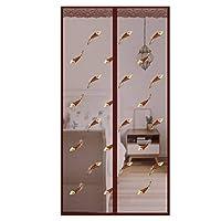 磁気スクリーンドア、取り外し可能な防蚊防塵磁気ミュートカーテンバルコニーのリビングルームのベッドルームとキッチンに適しています-95×220センチメートル(37×87インチ)-羽毛