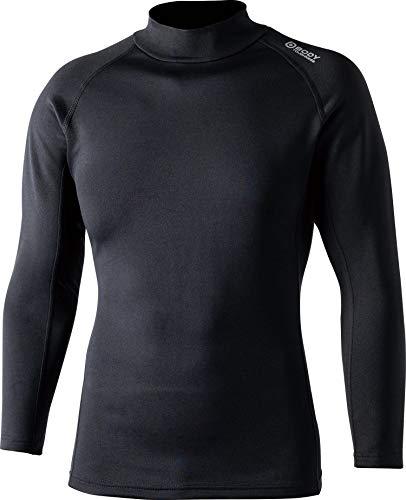おたふく手袋 ボディータフネスヒートブースト ヘビーウェイト ロングスリーブ ハイネックシャツ ブラック Mサイズ JW-186