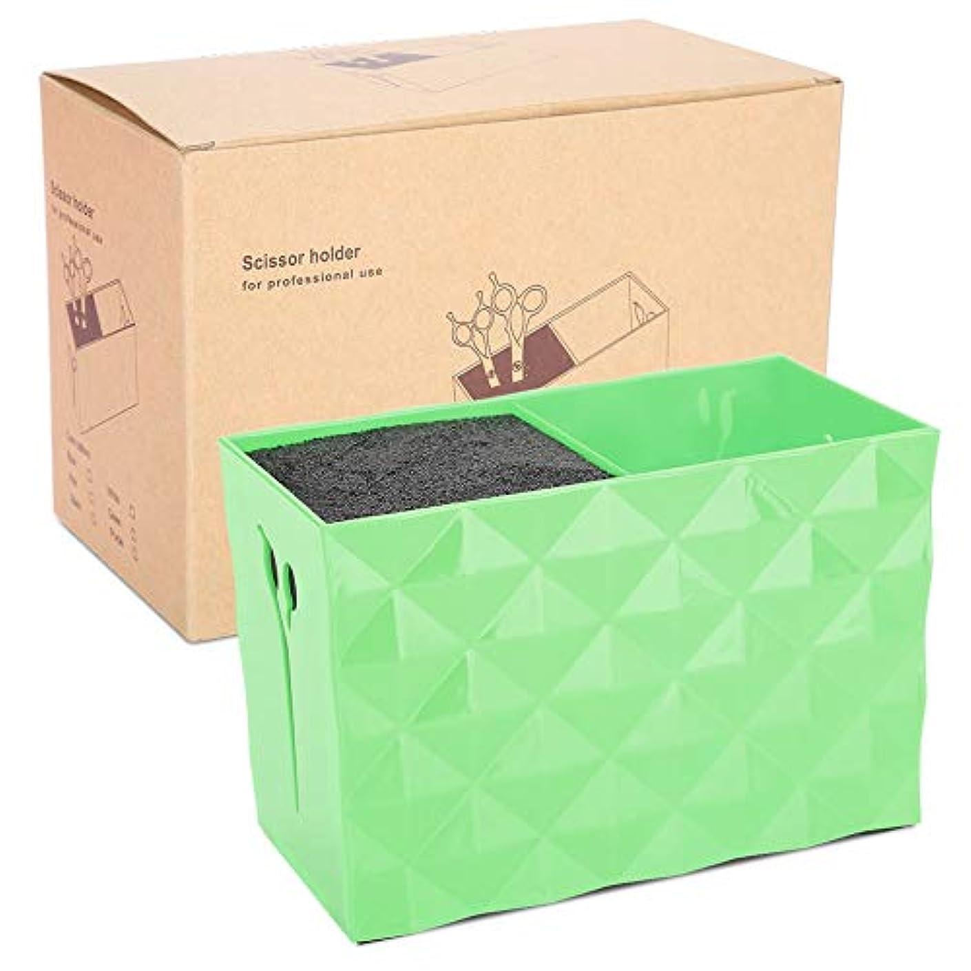 証書杖建物理髪収納ボックス、理髪ツールアクセサリーはさみくしヘアクリップオーガナイザー(緑)