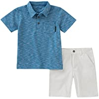 Calvin Klein Baby Boys 2 Pieces Polo Shorts Set
