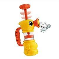 幸せな アヒル型のポンプ お風呂 おもちゃ 幼児 子供 赤ちゃん 汲み上げる 水遊び 知育玩具 電池不要 至福の時間 楽しむ 大喜び