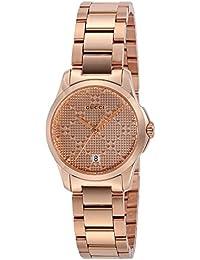 [グッチ]GUCCI 腕時計 Gタイムレス ピンクゴールド文字盤 YA126567 レディース 【並行輸入品】