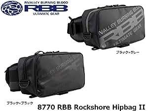 双進(SOSHIN) RBB ロックショアヒップバッグII ブラック×グレー No.8770