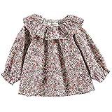 AIKSSOO ベビー服 ブラウス キッズ 女の子 シャツ 長袖 カジュアル 花柄 オシャレ size 66 (1)