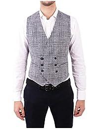 (タリアトーレ) Tagliatore メンズ トップス ベスト・ジレ Grey Linen Vest [並行輸入品]