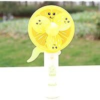 elegantstunning 手で操作するミニ漫画の果物のファンのおもちゃ 子供のため 1ポータブルハンドヘルドミストスプレーファンのおもちゃ