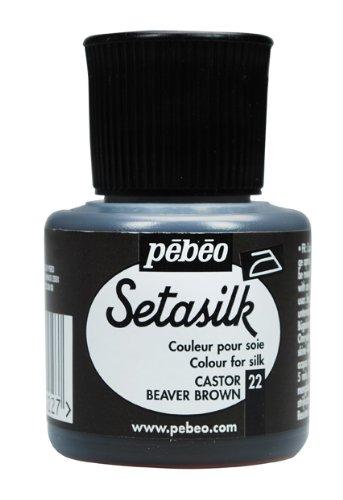 ぺべオ 綿、麻、シルクに描ける絵具 セタシルク 45mlNO.22ビーバーブラウン