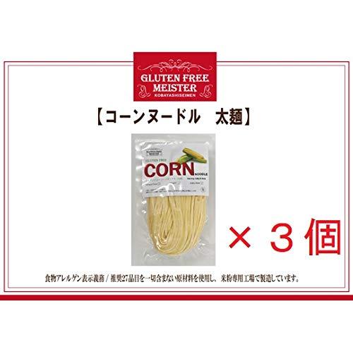 とうもろこし麺(太)128g×3 コーンヌードル スパゲッティ グルテンフリー 小林生麺 おためし アレルギー対応食品 自然食